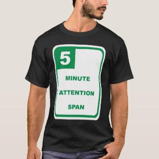 Spänner över minimal uppmärksamhet 5 tee shirts