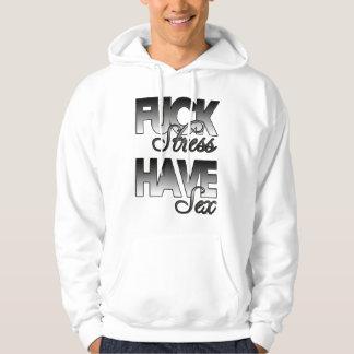 Spänningshoodie för grabbar F@*K Sweatshirt Med Luva