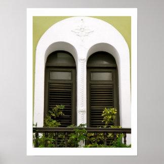 Spansk arkitektur Windows Poster