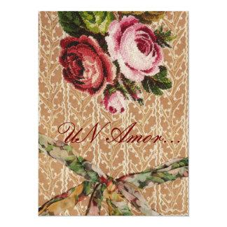 """Spansk bröllopinbjudan"""" Tapestry & ro """", 14 X 19,5 Cm Inbjudningskort"""