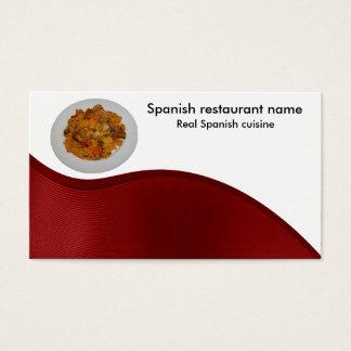 Spansk cuisine visitkort