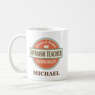 Spansk gåva för mugg för lärarepersonligkontor