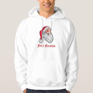 Spansk jultomten sweatshirt med luva