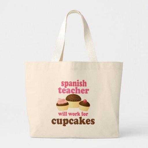 Spansk rolig) gåva för lärare ( tygkassar