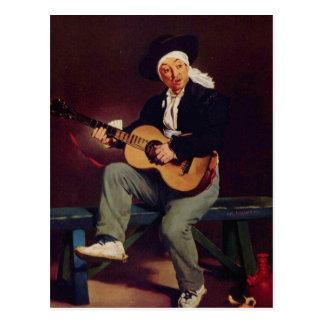 Spansk sångare - Edouard Manet Vykort