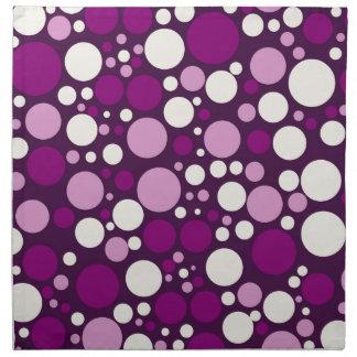 Spansk violet- & vitpolka dots tygservett