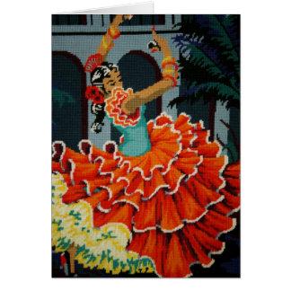 Spanskt flamencodansarekort hälsningskort