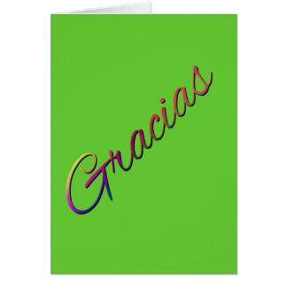 SPANSKT SPRÅK THANKFU för thank-you-394201 GRACIAS Hälsningskort