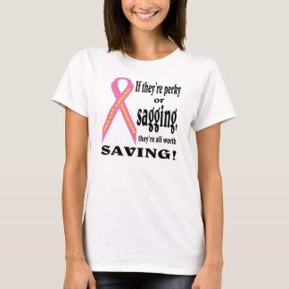 Spara allt bröst. gå mot cancer. tee shirts