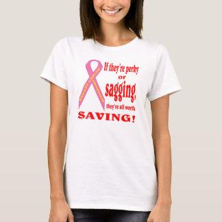 Spara bröst. Gå mot cancer. Tee Shirt