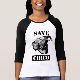 Spara Chico - damer 3/4 sleeve passade T-skjortan T Shirt