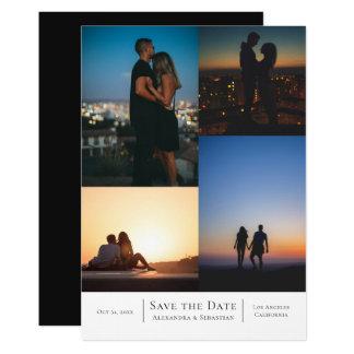 Spara datera 4 foto som gifta sig personlig 12,7 x 17,8 cm inbjudningskort