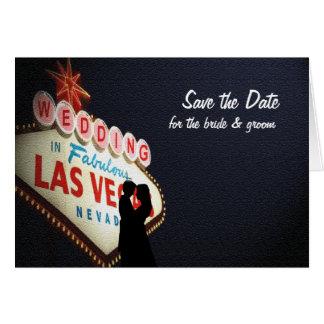 """Spara datera """"bröllop"""" i det Las Vegas kortet Hälsningskort"""