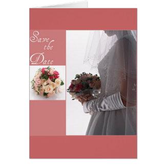 Spara datera-Bruden Hälsningskort