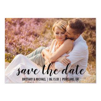 Spara datera kopplar ihop fotoförlovning meddelar 12,7 x 17,8 cm inbjudningskort