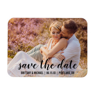 Spara datera kopplar ihop fotoförlovning meddelar magnet