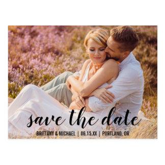 Spara datera kopplar ihop fotoförlovning meddelar vykort