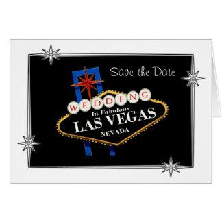 """""""Spara datera"""" som gifta sig i sagolika Las Vegas, Hälsningskort"""