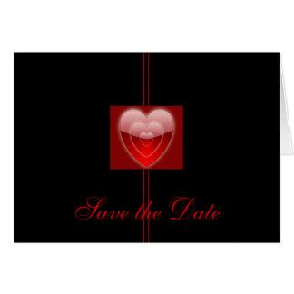 """Spara datera - """"trefaldig glödande hjärta """", OBS kort"""