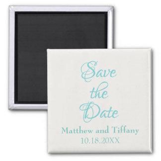 Spara daterablåtten och försilvra bröllop magnet