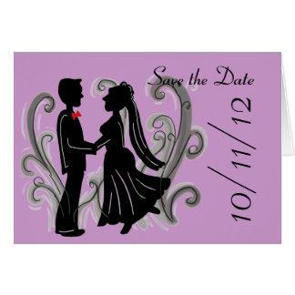 Spara daterabröllopkortet OBS kort