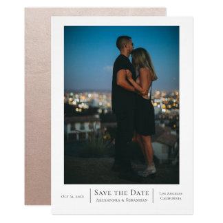 Spara daterabrölloppersonligen 12,7 x 17,8 cm inbjudningskort
