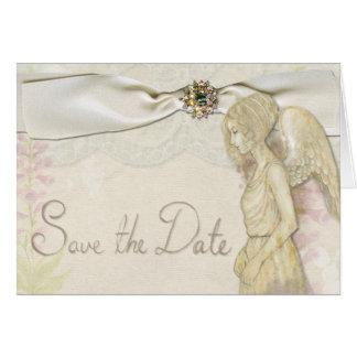 Spara dateraelegant bröllopinbjudan hälsningskort