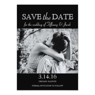 Spara daterainbjudan Foto-darkgrey | 12,7 X 17,8 Cm Inbjudningskort