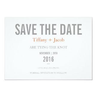 Spara daterainbjudan | märka 2 12,7 x 17,8 cm inbjudningskort