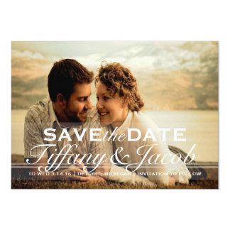 Spara datum meddelande   två  photo 12,7 x 17,8 cm inbjudningskort