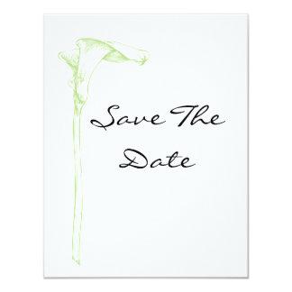 Spara datumet 10,8 x 14 cm inbjudningskort