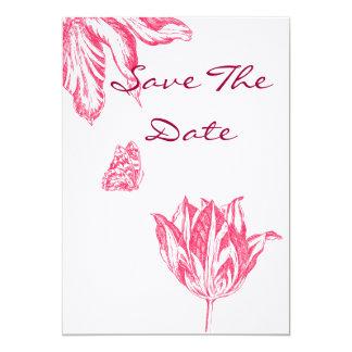 Spara datumet 12,7 x 17,8 cm inbjudningskort