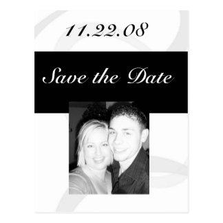 Spara datumet vykort