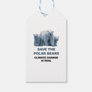 Spara de polara björnarna presentetikett