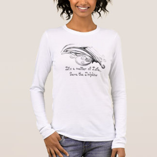 Spara delfinutslagsplatsskjortan tee shirt