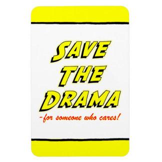 Spara den dramakontors humorFlexi magneten Magnet