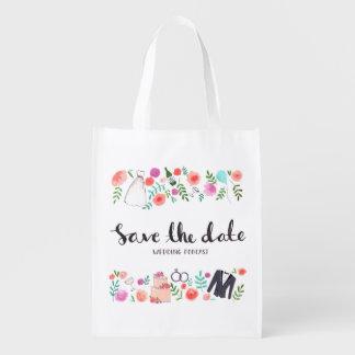 Spara den Eco för daterabrölloppodcasten shopparen Återanvändbara Kassar