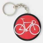 Spåra den röda cykeln - pricka nyckel ring