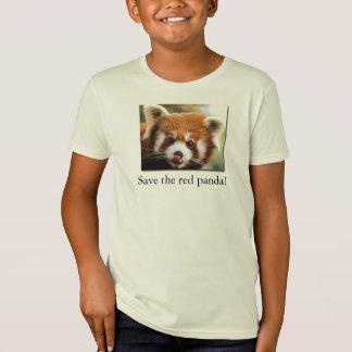 Spara den röda pandaen! Organiskt barnT-tröjajr. T Shirt
