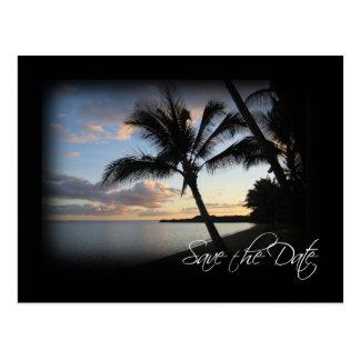Spara den tropiska datera - vykort