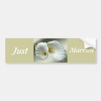 Spara designen för liljar för daterafirandevit bildekal
