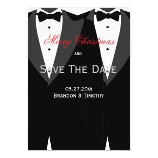 Spara det glada bröllop för daterajulkortvit 12,7 x 17,8 cm inbjudningskort