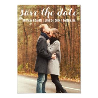 Spara det moderna förlovningkortet WBL för datera 12,7 X 17,8 Cm Inbjudningskort