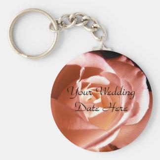Spara det rosa fotoet för datera rund nyckelring