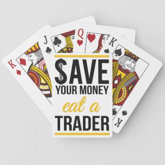 Spara dina pengar äter en affärsman casinokort