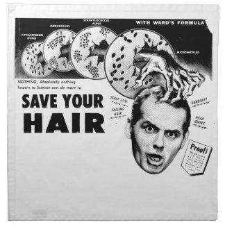 Spara ditt hår! tygservett