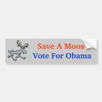 Spara en älg, röstar för Obama, Bildekal