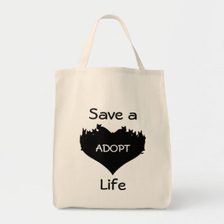 Spara ett liv adopterar kattshoppingtoto tygkasse