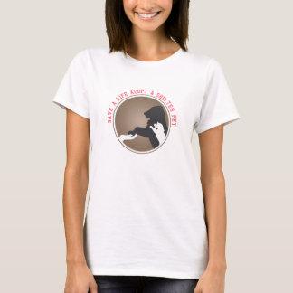 spara ett liv adopterar skyddhusdjuret t shirt