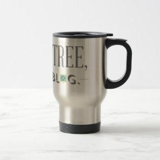 Spara ett träd, skriv en bloggtravel mug rostfritt stål resemugg